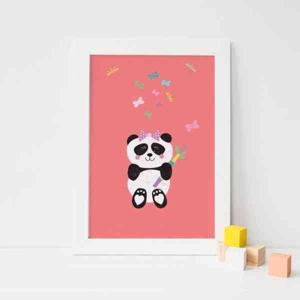 Panda Girl Nursery Print