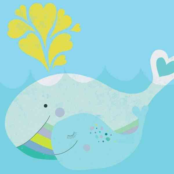 Mama and Baby Whale Art Print - 03whalemamaandbaby