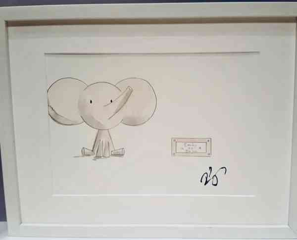 Personalised New Baby Gift Rachael Darby Elephant Paint