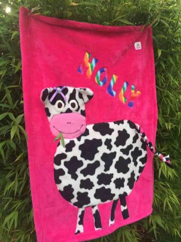 Personalised Cow Snuggle Blanket - 16174450 1405839892768133 866854627241822720 n