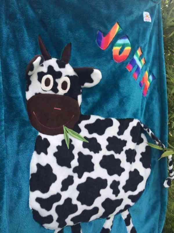 Personalised Cow Snuggle Blanket - 39929226 2123259864374748 7097568357267800064 n