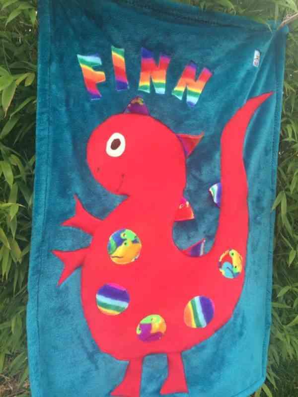 Dinosaur Snuggle Blanket - 39933156 2123262847707783 3041906296719671296 n