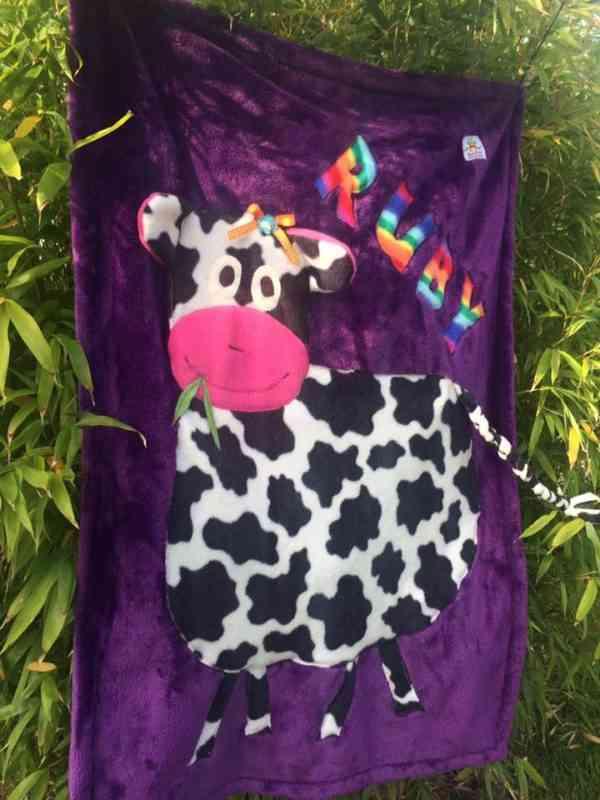 Personalised Cow Snuggle Blanket - 39935757 2123258701041531 5563221986903064576 n
