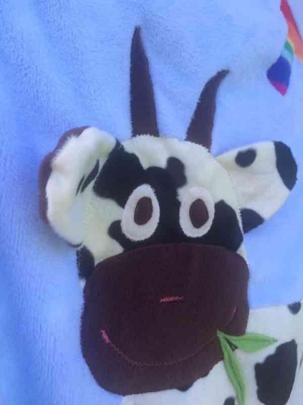 Personalised Cow Snuggle Blanket - 40137883 2128419587192109 4001493262996078592 n
