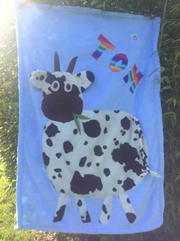 Personalised Cow Snuggle Blanket - 40141979 2128419703858764 168567583648251904 n