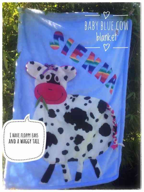 Personalised Cow Snuggle Blanket - 44180457 2146528592032589 7384417437577379840 n