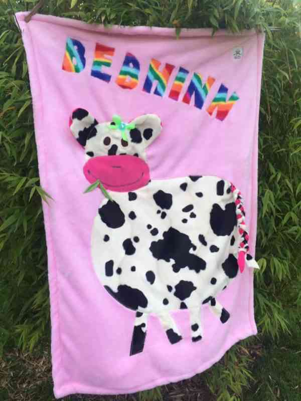 Personalised Cow Snuggle Blanket - 46447623 2241056342595099 3894510240447594496 n