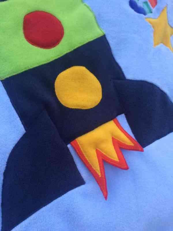 Rocketship Snuggle Blanket - 46470552 2241056839261716 2815171945211887616 n