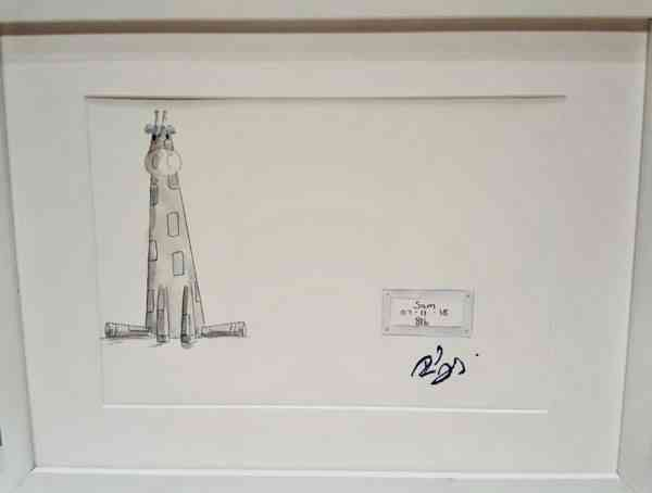 Personalised New Baby Gift Rachael Darby Giraffe Painting