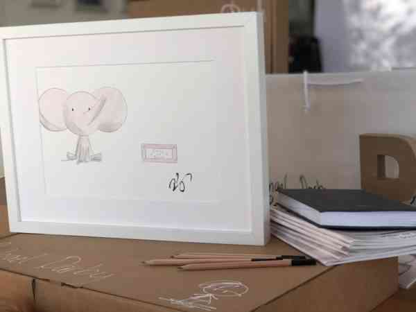 Personalised New Baby Gift - Elephant Painting - 6C4C169D CFF4 44D5 9B1C C8987480E345