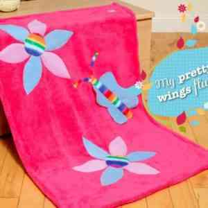 Flowers and Butterfly Snuggle Blanket
