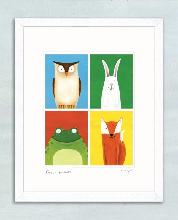 'Forest Friends' framed giclée print -