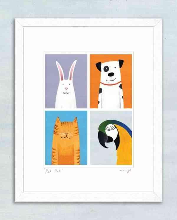 'Pet Pals' framed giclée print -