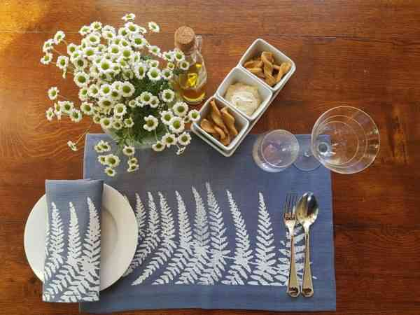 Land Art Homeware - Fern Napkin - FERN LANDART AERIAL 1