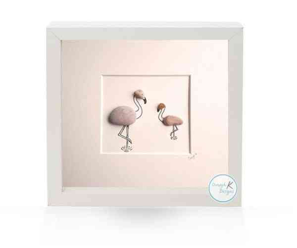 Flock of Flamingos - Irish Pebble Art - Flock of Flamingos 1