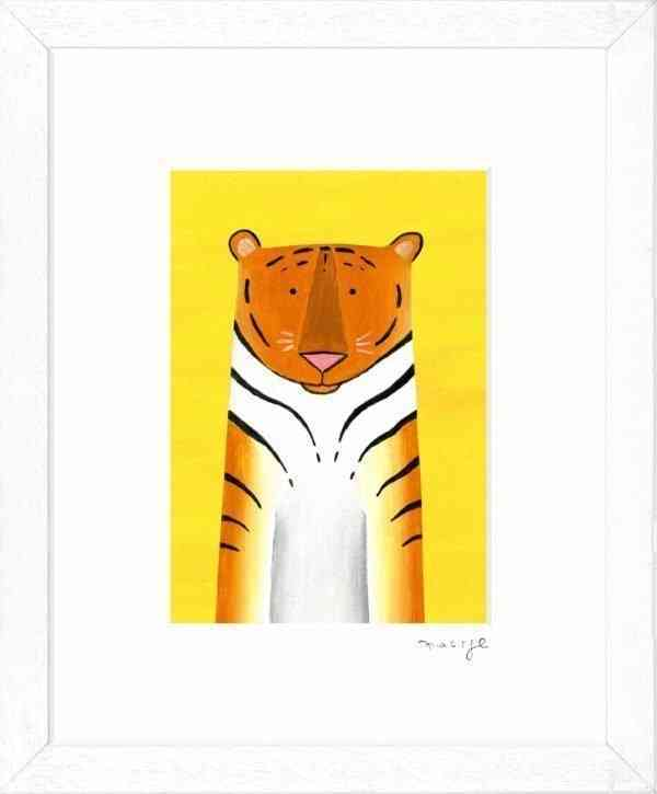 "'Tiger Time' framed giclée print 8 x 10"" -"