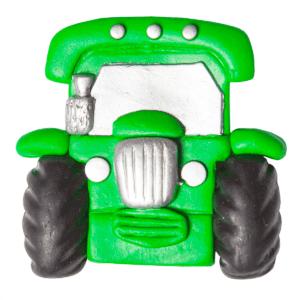Green Tractor Fridge Magnet