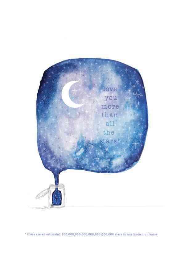 'Jar of Stars' Art print - JAR OF STARS 2