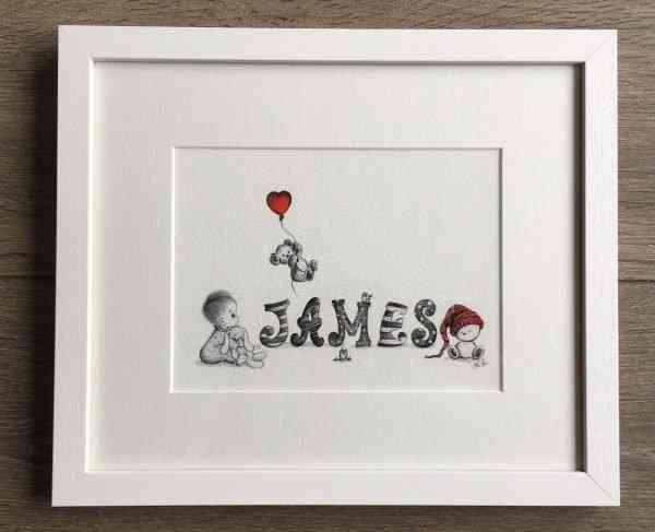 personalised Baby/Child Name Prints