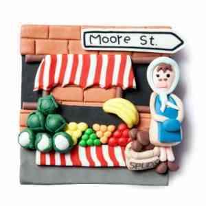 Moore Street Fridge Magnet