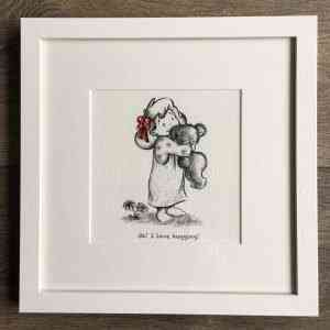 'Oh! I love hugging!' Nursery Print