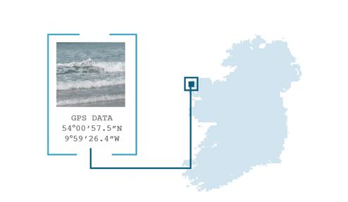 WBW 800 [UA] Folio / Seashore wave Graphic - Seashore Achill map GPS