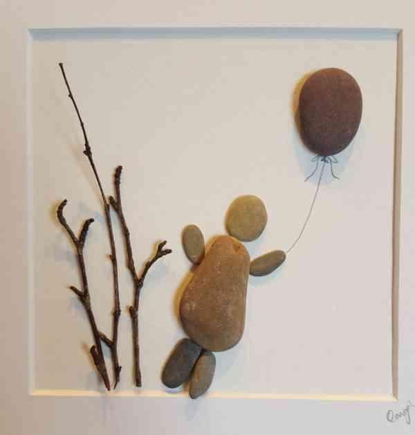 Up, Up and Away - Irish Pebble Art - Up Up and Away 2
