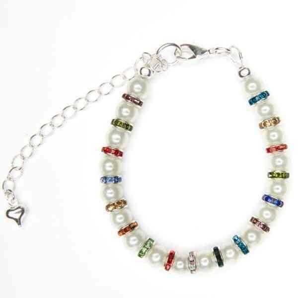 Pearl & Multi Bracelets - pearl and multi bracelet