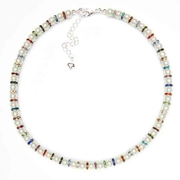 Pearl & Multi Necklace - pearl multi necklace
