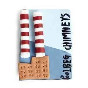 Poolbeg Chimneys Fridge Magnet