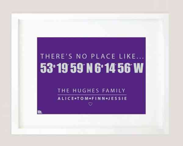 Co-ordinates – There's No Place Like.. Print - theres no place like home