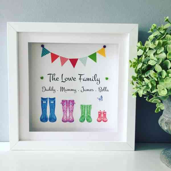 Family Wellies Personalised Framed Print - 45C3426C C936 4E0E 815F 8E4DC566B419