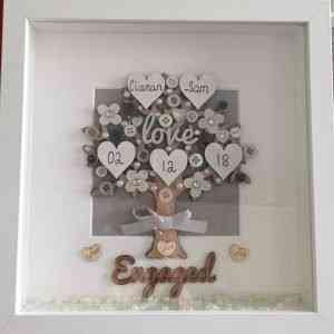 Personalised Engaged Tree Frame
