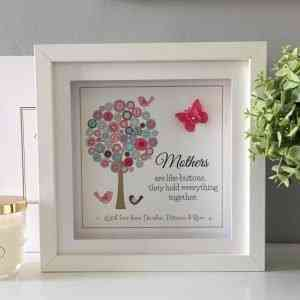 Mothers are like Buttons Personalised Frame