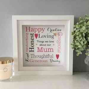 Things We Love About Mum Personalised Frame
