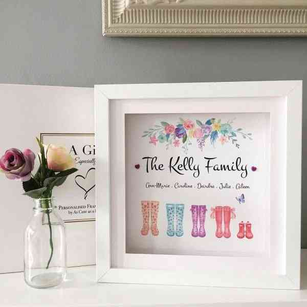 Family Wellies Personalised Framed Print - EDF9700F 4657 4777 8262 023030890D99