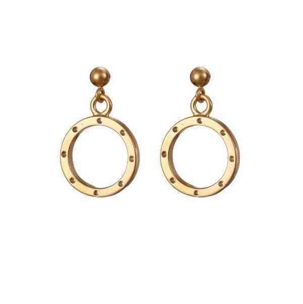 I Am Dreaming Drop Earrings - Gold -