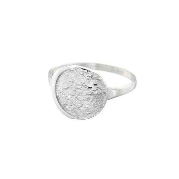 Night Moon Ring - in Silver - moon ring silver