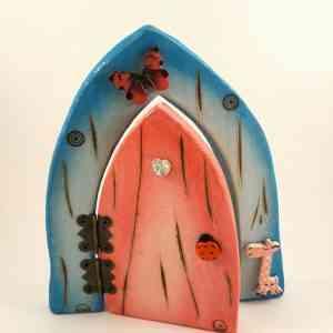 Fairy Door - Pink and Blue