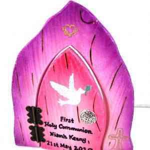 Communion Fairy Door - Pink and Purple