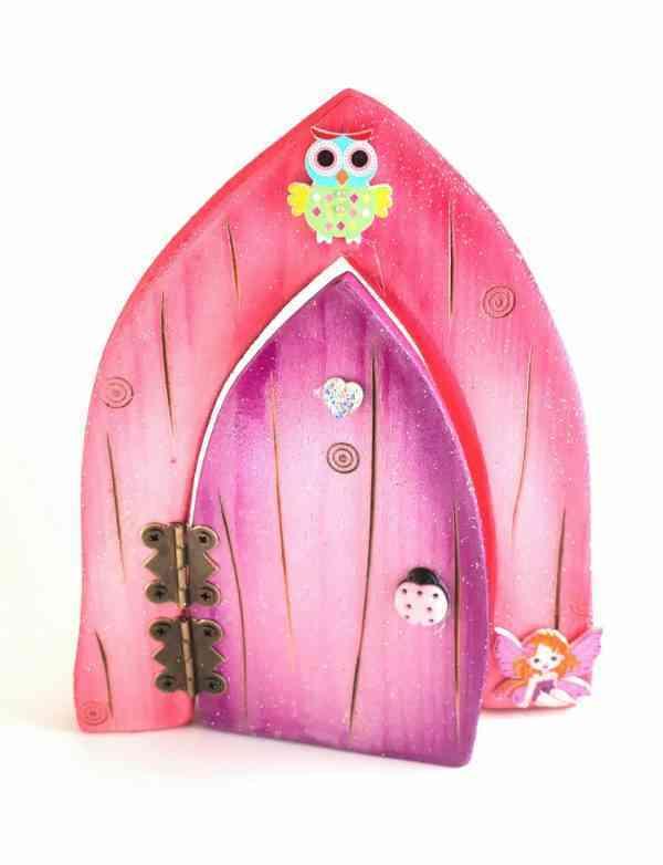 Fairy Door - Purple and Pink - purple and pink fairy door