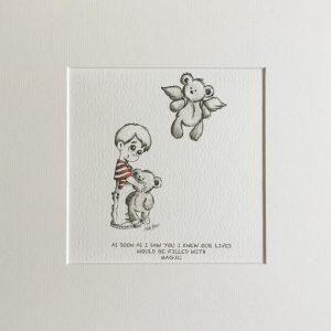 AS SOON AS I SAW YOU...BOY nursery print