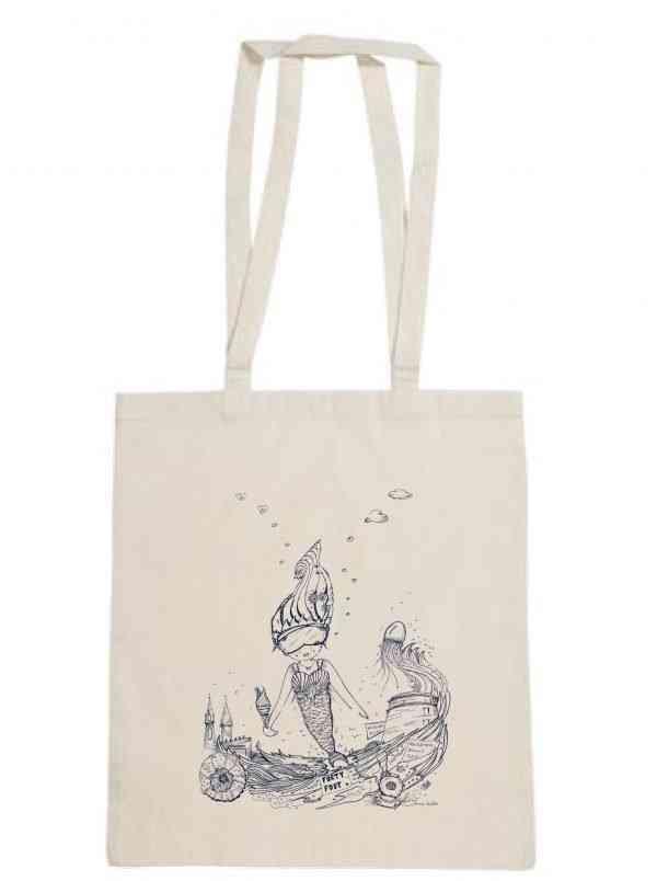 The Naughty Mermaid - Tote Bag