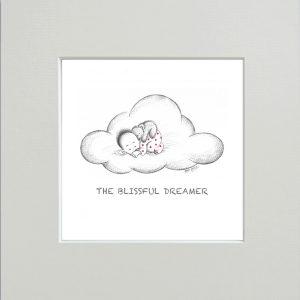 The blissful dreamer Nursery Print