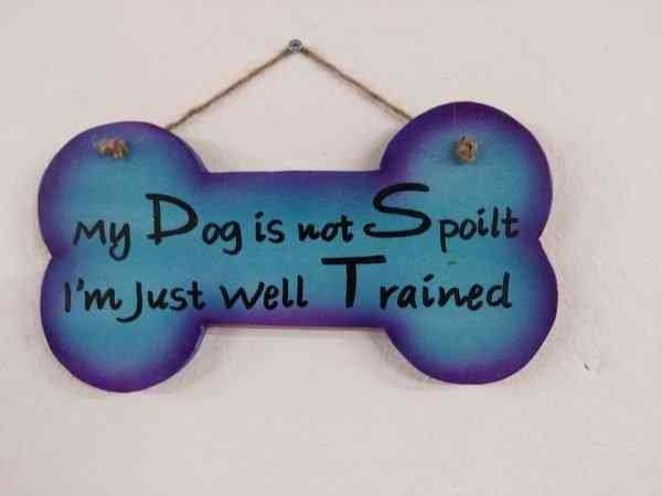 Wall Plaque - 'My dog is not spoilt..'