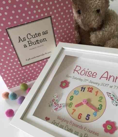Baby Clock Print for Girl - girlclock2