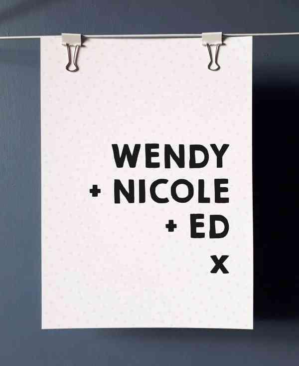 family name print 2