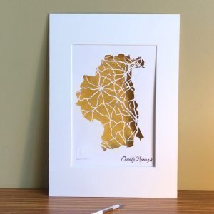 Armagh county map unframed