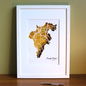 Co Carlow papercut framed