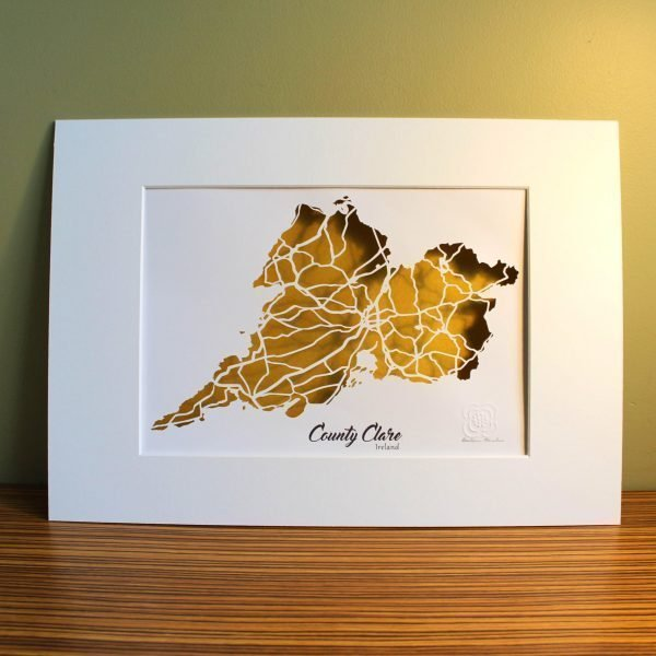 Clare map unframed